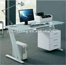 bureau en verre blanc noir blanc verre bureau d ordinateur pc de table bureau à domicile