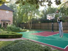 Outdoor Basketball Court Cost Estimate by Backyard Basketball Court Home Backyard Basketball