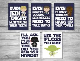 star wars bathroom digital downloads navy blue printable art