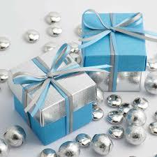 blue and silver two tone wedding favour boxes wedding paraphernalia