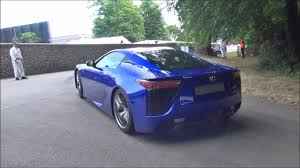lexus lfa crash blue lexus lfa smoking tires rear side view sssupersports