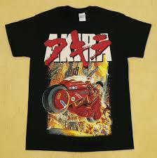 akira akira japan anime cartoon kaneda bike black t shirt size l rare