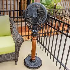 outdoor standing fans patio fanimation old havana outdoor pedestal mounted fan black