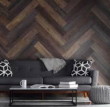 living room modern pattern oak wood wall decor gray fabric