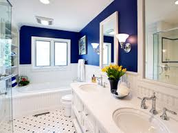 great blue and white bathroom tile for your interior home paint