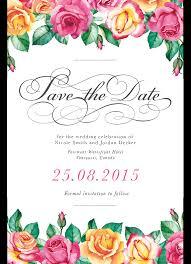 Date Invitation Card Custom Printed Wedding Invitations Design Your Wedding