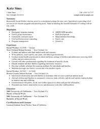 Resume Samples For Maintenance Worker by Unusual Design Social Worker Resume Sample 6 Best Example Cv