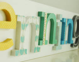 Decorated Letters For Nursery Room Letters Etsy
