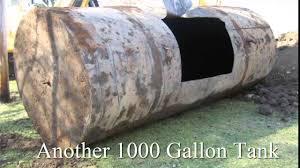 1000 gallon oil tank removal youtube
