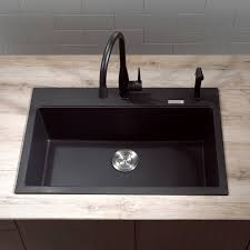 Sinks Granite Countertop White Paneled Cabinets Kitchen Blanco - Kitchen sinks granite composite