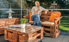 Ideas For Garden Furniture by Recycled Wood Pallet Furniture Ideas Recycled Things
