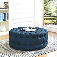 ottoman round tufted ottoman with storage round blue tufted