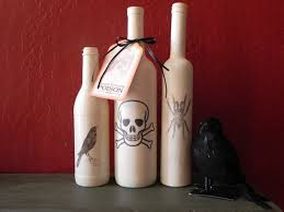 halloween wine bottle labels simple halloween crafts you can make using bottles