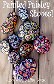 Painting Rocks For Garden Painted Paisley Stones Painting Project