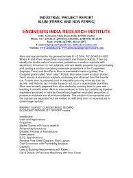 cost of alum industrial project report alum ferric and non ferric aluminium