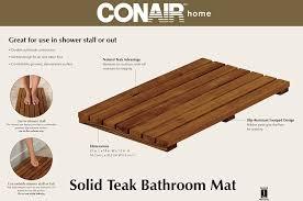 amazon com conair home solid teak bathroom mat health personal amazon com conair home solid teak bathroom mat health personal care