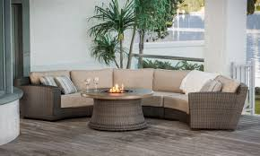 Outdoor Sectional Patio Furniture - contempo curved sectional sofa by lloyd flanders all weather