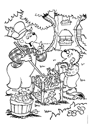 berenstain bears thanksgiving coloring pages printable coloring