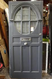 Salvaged French Doors - architectural salvage glass panel door 1920 entrance door 1920s