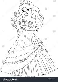 princess coloring page stock vector 678784234 shutterstock