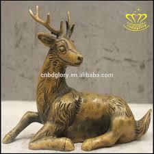 lion statue home decor european style of metal bronze fiberglass deer lion sculpture for