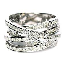 highway wedding band 56 best criss cross diamond rings images on jewelry