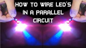 how to wire multiple led u0027s in a parallel circuit youtube