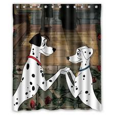 love 101 dalmatians dogs customized design bath waterproof shower