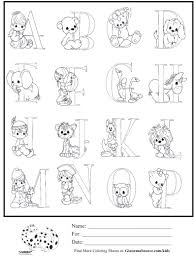 kids coloring precious moments alphabet 1 coloring sheet