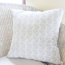 Grey Linen Cushions Cow Parsley Linen Cushion By Charlotte Macey Notonthehighstreet Com