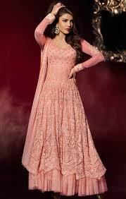 buy heavy bridal anarkali suits heroin priyanka chopra dress for