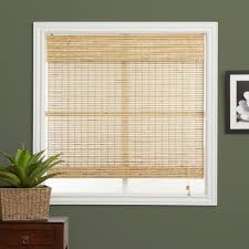 arlo blinds petite rustique bamboo 54 inch wide roman shade by