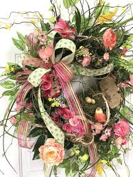 springtime wreaths springtime wreath for front door spring wreath front door florals