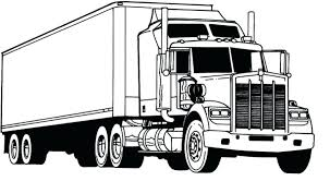 coloring pages horse trailer truck with trailer coloring pages semi truck coloring pages