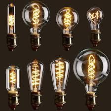vintage edison bulb led light e27 4w dimmable industrial filament