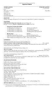 Sample Undergraduate Resume Examples Of Resume Objective For Students