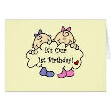 twin girls birthday greeting cards zazzle