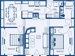 bedroom house floor plans with dimensions 2 bedroom floor plans