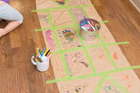 diy wrapping paper with with artwork