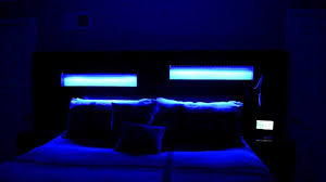 custom l e d u0027s in custom headboard king size bed youtube