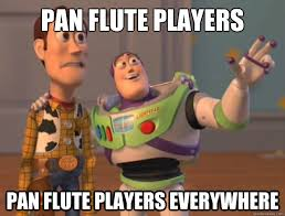 Flute Memes - pan flute players pan flute players everywhere toy story quickmeme