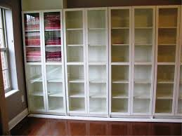 Bookcase With Glass Doors White by Ikea White Billy Bookcase With Doors Thesecretconsul Com