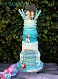 frozen themed birthday cake cake by m u0027s bakery cakesdecor
