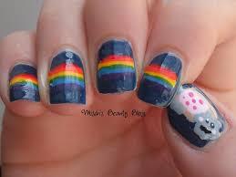 misch u0027s beauty blog notd may 25th nyan cat nail art