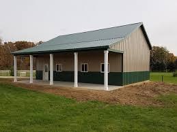 Mini Barns Michigan 30 X 40 X 14 Porch Custom Barn Construction Michigan Burly