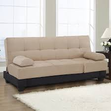 shop lifestyle solutions khaki microfiber futon at lowes com