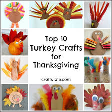 top 10 turkey crafts for thanksgiving craftulate