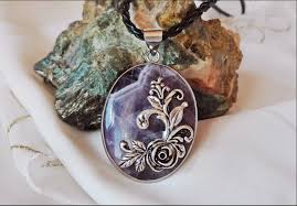 cameo necklace images Vintage amethyst cameo necklace jpg