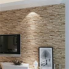 steintapete beige wohnzimmer stein tapete wohnzimmer ideen stein tapeten erschaffen ein