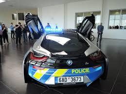 cars bmw i8 czech bmw i8 police car crashes after driver suffers medical emergency